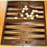 20インチ 手作り 木製 & 真珠層 象嵌 ステンドウッド バックギャモン & チェッカーセット