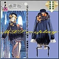帽子*髪飾り付き☆コスプレ衣装 Fate/Grand Order 霊基再臨 第一段階 アビゲイル・ウィリアムズ フォーリナー(紺色)風全セット