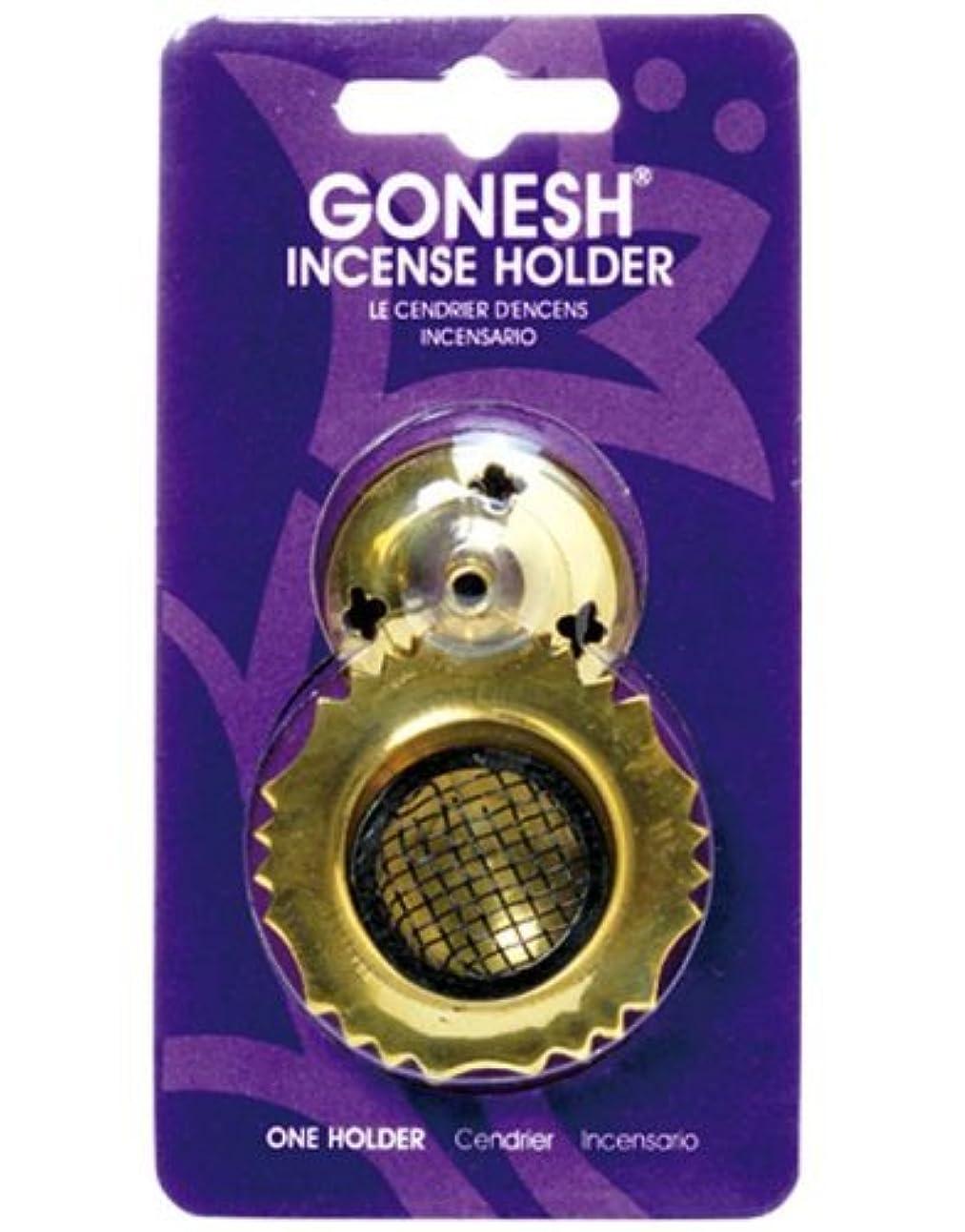 パーフェルビッドアブストラクト飼料ガーネッシュ(GONESH) インセンスホルダー メッシュブラス (お香立て)