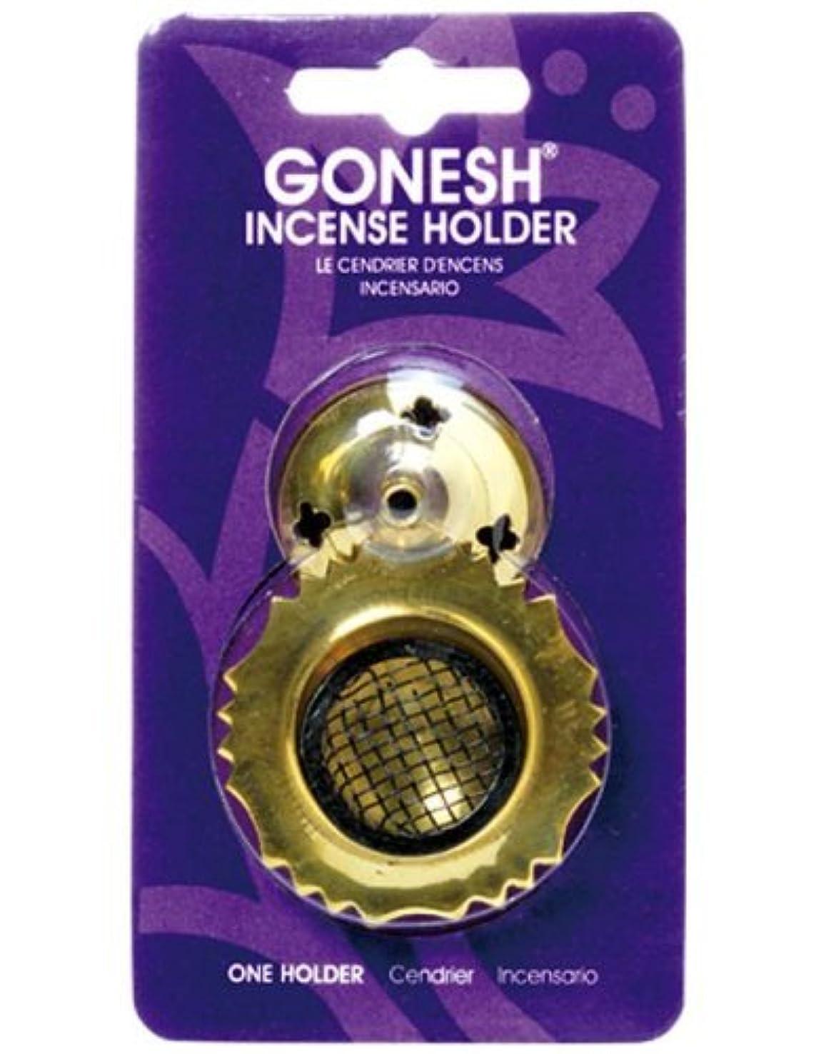 輪郭反対に全滅させるガーネッシュ(GONESH) インセンスホルダー メッシュブラス (お香立て)