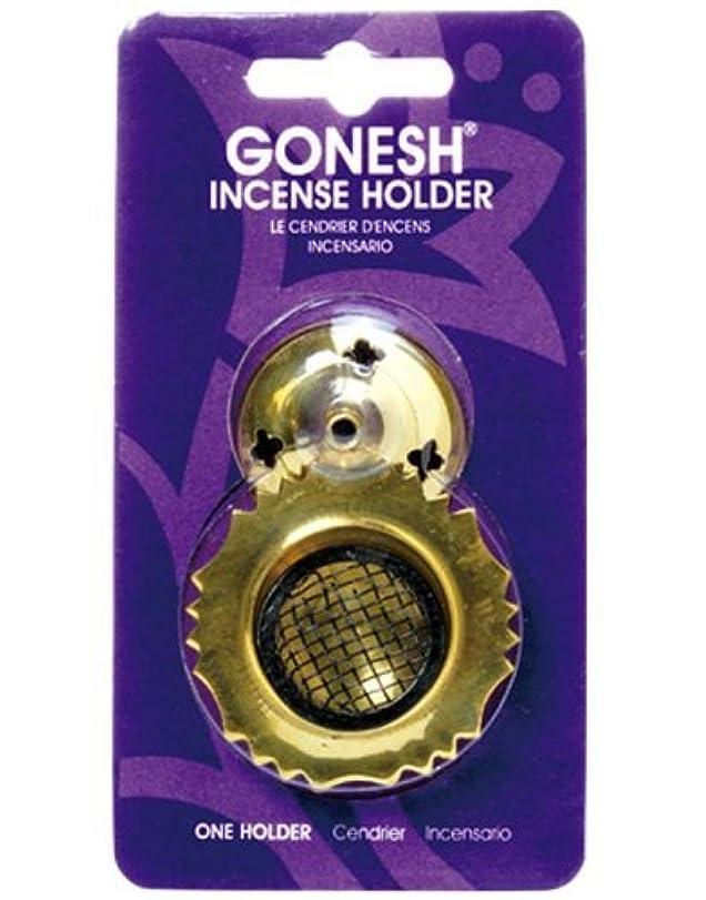 思慮のない積分周術期ガーネッシュ(GONESH) インセンスホルダー メッシュブラス (お香立て)
