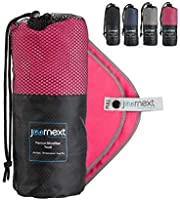 Journext Microfiber Towel for Beach, Travel, Hiking, Camping, Fitness, Backpacking, Ultra-Light, Anti-Bacterial, Quick...