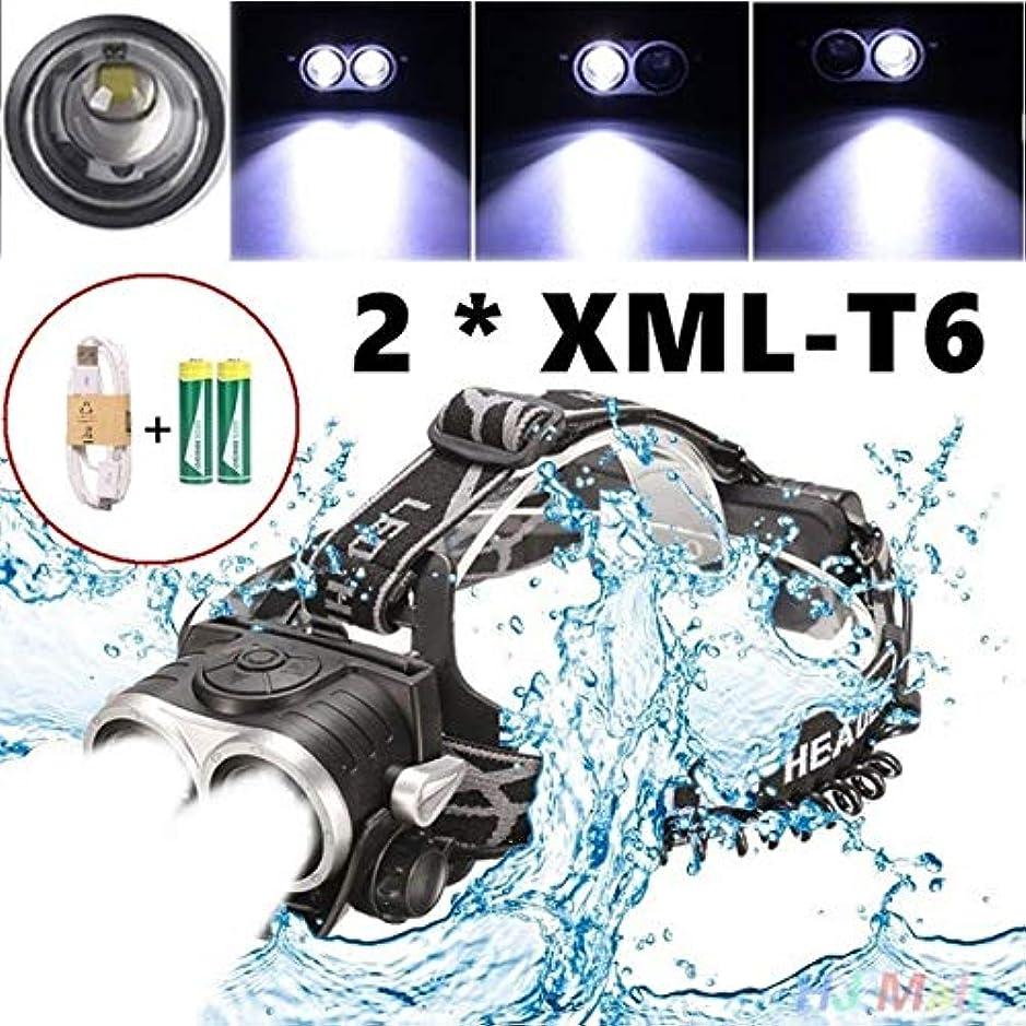 物理的な兄弟愛迅速Glorbo led ヘッドライト 超高輝度 USB 充電式ド ヘッドランプ IPX5 防水 アウトドア 登山 夜釣り 作業灯 18650電池付属