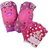 ディズニー ミニーマウス プロテクター 肘・膝パッド 子供用 4-8歳 自転車 キックボード スケボー 保護に