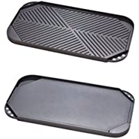 Strauss Green Series 19 x 10.5 Inch Reversible Stovetop Grill/Griddle with Quantanium Non-Stick Coating by Josef Strauss - Titanium