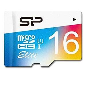 シリコンパワー microSDHCカード 16GB class10 UHS-1対応 最大読込85MB/s アダプタ付 永久保証 SP016GBSTHBU1V20SP