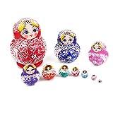 【ノーブランド品】マトリョーシカ ロシア 伝統 木製 人形 綺麗 雑貨 飾り 贈り物 手塗り