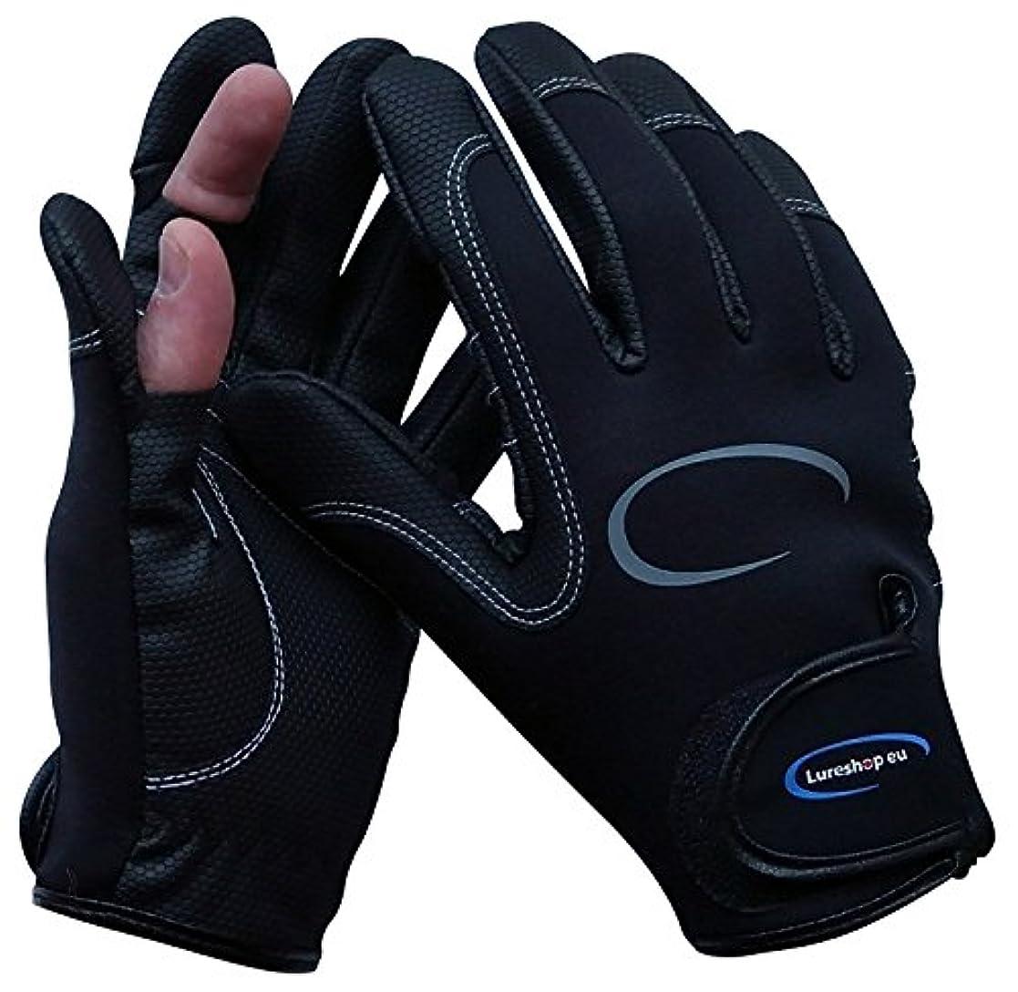 幻滅する人事担当者Stretch Neoprene Fishing Gloves 2 Cut Fingers ストレッチネオプレン釣り手袋2カットフィンガー
