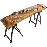 Minsell 中国楽器「筝」箏[そう] 普及品 中国 箏 演奏セット 21弦125cm 収納バッグ付き 演奏棚セット