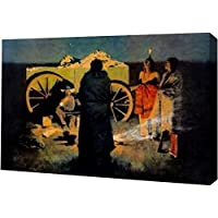 Shotgun Hospitality Frederic Remington – ギャラリーWrapped Gicleeキャンバスアートプリント – Ready To Hang 13