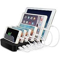 MixMart 6ポートUSB充電器 6台同期 急速充電 充電ステーション デスクトップ 充電スタンド iPhone/iPad/Nexus/Galaxy/ タブレットPC スマートフォン 充電対応 黒