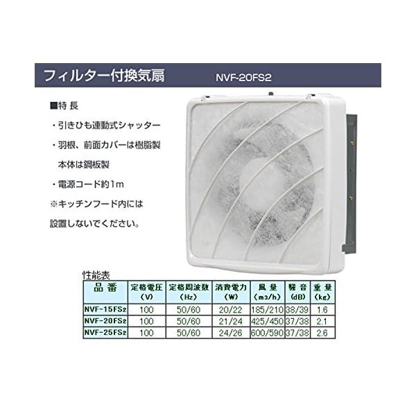 日本電興(NIHON DENKO) 一般換気扇...の紹介画像2