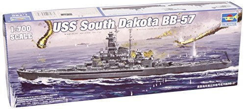 Trumpeter 1/700 USS South Dakota BB57 Battleship 1945 Model Kit [並行輸入品]