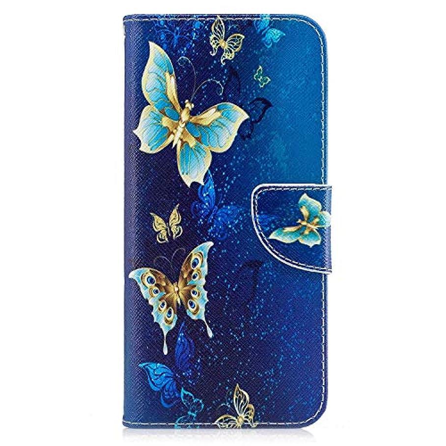 不安物理子音OMATENTI Galaxy S8 Plus ケース, ファッション人気 PUレザー 手帳 軽量 電話ケース 耐衝撃性 落下防止 薄型 スマホケースザー 付きスタンド機能, マグネット開閉式 そしてカード収納 Galaxy S8 Plus 用 Case Cover, バタフライ-4