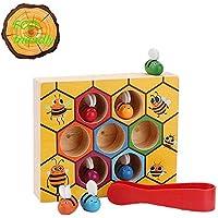 幼児用 カラフル 木製 蜂の巣箱 練習 バランス スキル 玩具 子供 早期教育玩具 就学前