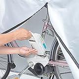 川住製作所 サイクルカバー 電動アシスト自転車対応 ヘッドレスト付後子供乗せ対応 ファスナー付 KW-379AS/SL