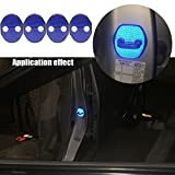 【Maidao】適合多数 マツダ MAZDA 汎用 ドア ロック ストライカー カバー Eタイプ+青色 高輝度 反射テープ 4枚 DK系 CX-3 KE系 CX-5 GG/GH/GJ アテンザ DE/DJ デミオ