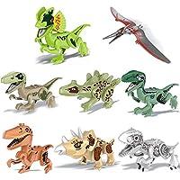 Cocal Interesting 恐竜DIY組み立てブロック アクションフィギュア プレイセット DIY教育玩具 8個パック 子供用