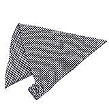 三角巾 ゴム付き 子供用 三角布 学校 給食 エプロン 子供エプロン キッズエプロン ギンガム-ネイビー F