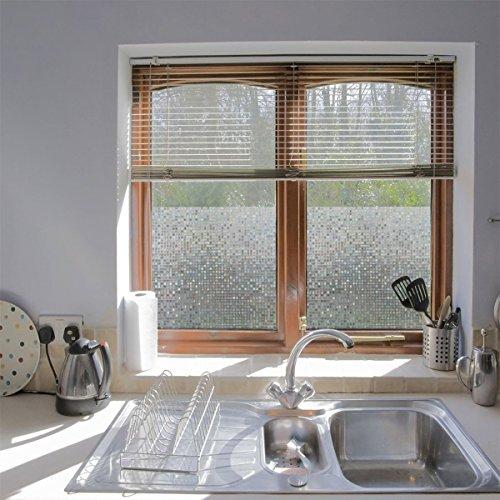 RoomClip商品情報 - [日本製] [harry] 窓用インテリア ガラスフィルム 細モザイク 目隠し 半透明 ガラス風 シール式タイプ (約30センチ x 約90センチ)