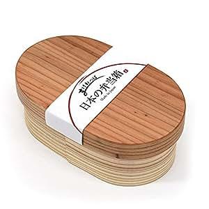 日本製 国産杉 わっぱ弁当 小判型 曲げわっぱ 弁当箱 約500ml