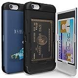 iPhone6s ケース [TORU] iPhone6 ケース 手帳型 [衝撃吸収][カードホルダー][スタンド][ミラー] - おしゃれな アイフォン6/6s用 耐衝撃TPUハードカバー [お休み]