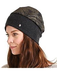 (カジュアルボックス)CasualBox KARE ラメ デザインワッチ フリーサイズ 冬 婦人帽子 レディース 帽子 ニット帽 charm チャーム