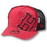 ニューエラ Hデニム レッド キャップ 広島東洋カープ 帽子 野球帽 観戦 NEW ERA(トラッカー) 赤