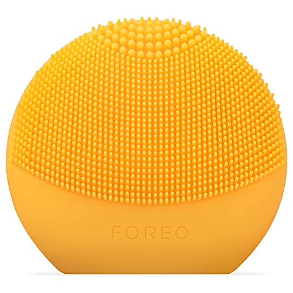 撤回する報復する怖がらせるFOREO LUNA fofo サンフラワーイエロー スマートクレンジングデバイス 電動洗顔ブラシ シリコーン製