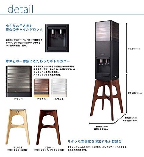 『amadana×CLYTIA ウォーターサーバー スターターセット(amadana×CLYTIAウォーターサーバー + CLYTIA 富士山のお水 12L×2本) (ブラック)』の4枚目の画像