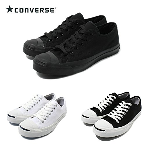 (コンバース) CONVERSE ジャックパーセル JACK PURCELL 正規品 定番カラー キャンバス スニーカー ローカット men's ladies sneaker US6(24.5cm) ブラックモノクローム
