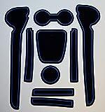 KINMEI(キンメイ) VW Polo ポロ 青 フォルクスワーゲン 車種専用設計 インテリア ドアポケットマット ドリンクホルダー 滑り止め ノンスリップ 収納スペース保護 ゴムマット 新車 VIIv-p02