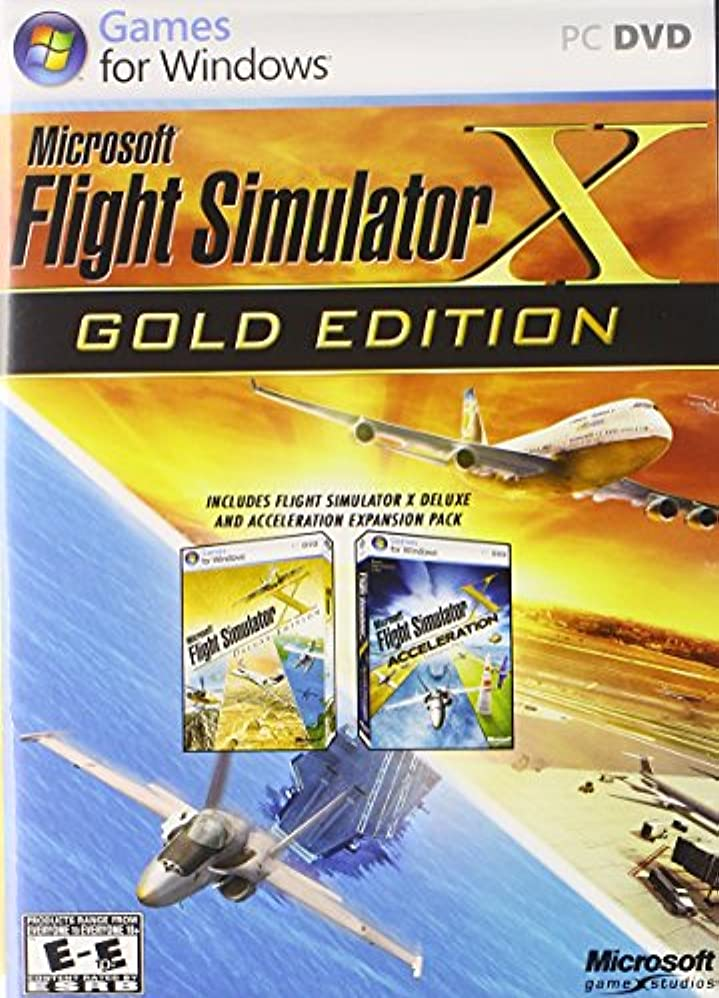 青彼らのインスタントFlight Simulator X Gold Edition