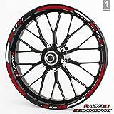 RSタイヤ リムデカール 15インチ 16インチ 17インチ 18インチ 19インチホイール用 一式セット 選べるカラー&デザイン 15 Inches レッド FELG-RS-ROT-DES-1-USA