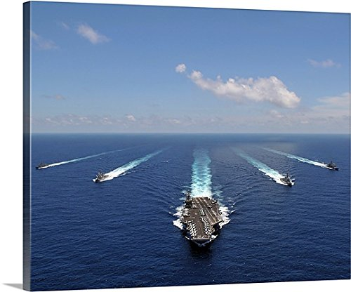Stocktrekイメージギャラリー‐ the aircraft carrier USS ABRAHAM LINCOLN Leading a formationのShips 14