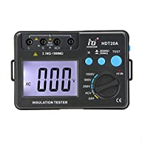 KKmoon HDT20A 絶縁抵抗試メーター 絶縁抵抗試テスター(電圧1000V / w/LCDバックライト)