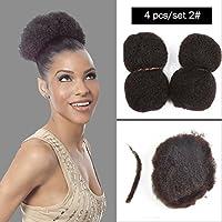 """Yonna Hair 4pcs / lotタイトなアフロキンキーバルクヘアDreadLocks、ツイストブレイドのための100%人間の髪 (35.56-40.64cm(14""""-16""""), #2)"""