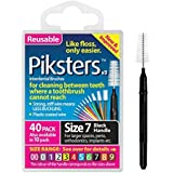 PIKSTERS for cleaning between teeth Size 7 (Black) 40Pk by PIKSTERS