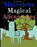 Marvelous Magical Adventures: Llama Write and Draw Activity Book for Girls and Boys