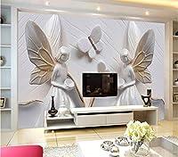 Jason Ming カスタム写真の壁紙3D立体レリーフ蝶美寝室のリビングルームテレビの背景壁の家の装飾壁画壁紙-150X120Cm