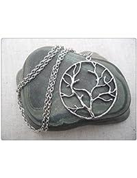 ライフジュエリーシンプルな日常のシルバーネックレス自然のシルバーツリーネックレスツリー