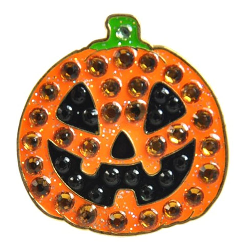 シャーロットブロンテ討論論理Crystal Golf Ball Marker & Hat/ Visor Clip - Jack-o-lantern (Pumpkin) - HALLOWEEN GOLF