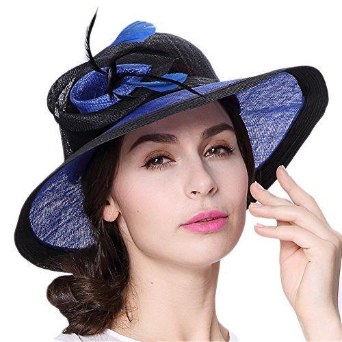Koolaの帽子レディースLady 3層マニラ麻教会Hats...