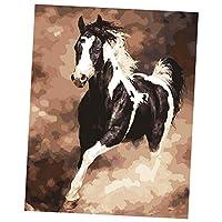 Hellery ダイヤモンド絵画 5D 刺繍キット 手工芸 絵画工芸品 廊下 リビングルーム 寝室 装飾 全6種 - 馬, 25x30cm