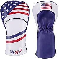 ヘッドカバー カスタムデザイン 米国旗柄 USA Flag ドライバー/フェアウェイウッド/ユーティリティ/パター DR FW UT セレクトプラザ