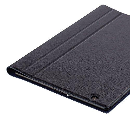 『【2015年モデル】ELECOM SONY Xperia Z4 Tablet フラップケース イタリアンソフトレザー素材レザー キーボード同時収納対応 ブルー TBM-SOZ4AWDTKBU』の3枚目の画像