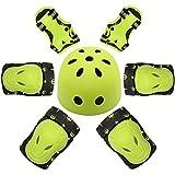 Ruzzy 子供用ヘルメットと保護具膝/肘/手首の調節可能な換気保護自転車スケート用ヘルメットスポーツ安全保護 購入へようこそ