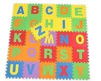 Yuelian(TM) アルファベットマット 子供向け 英語 パズルマット 床敷き プレイマット ジョイントマット  正方形マット