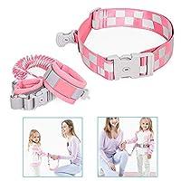 ジュメイコート迷子防止紐 子供 安全 ベルト ロック付き 360度回転 2m伸縮可能 ベビー 幼児 事故防止 迷子対策 (ピンク)
