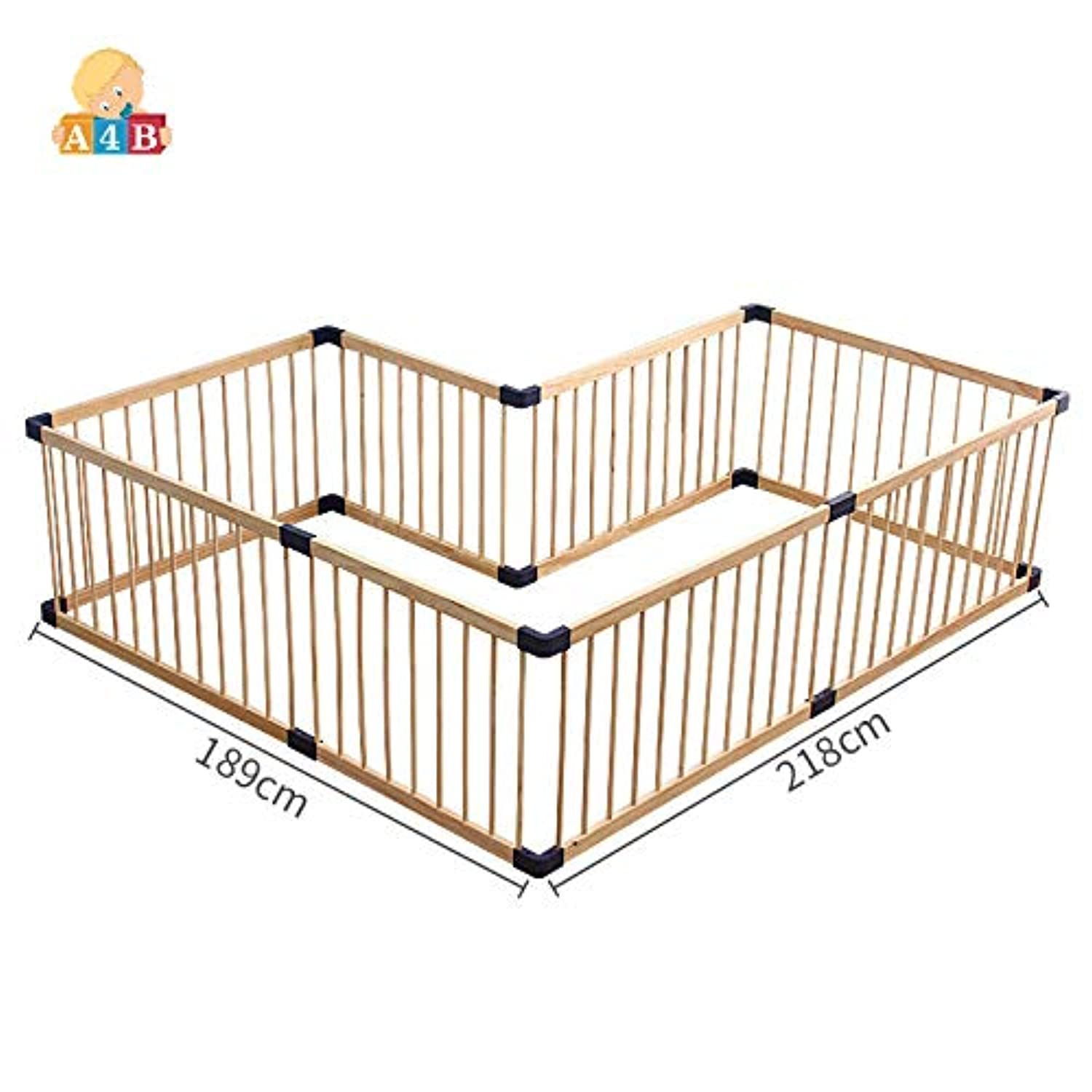 Baby playpen/baby fence Solid wood gate Children's game fence 190cm Size